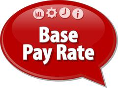 Base Pay Rate Business term speech bubble illustration Stock Illustration