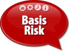 Basis Risk  Business term speech bubble illustration Stock Illustration