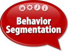 Behavior Segmentation  Business term speech bubble illustration Stock Illustration