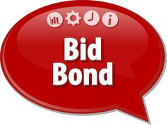 Bid Bond  Business term speech bubble illustration - stock illustration