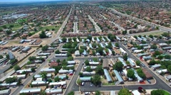 Aerial video Homes in Albuquerque New Mexico - stock footage