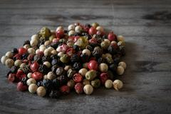 Whole Rainbow Colored Pepper Corns Stock Photos