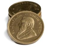 Stack of Gold Krugerrand Coins Kuvituskuvat