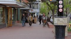 Boulder Colorado People walking Towards Camera Stock Footage
