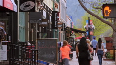 Boulder Colorado Kids Shopping Stock Footage
