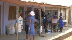 Ghana african woman group talk 4K Stock Footage