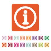 The information icon. Info and faq symbol. Flat - stock illustration