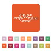 The knot icon. Node and tie, rope symbol. Flat - stock illustration