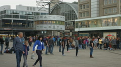 Pantomime in Alexanderplatz, Berlin Stock Footage