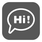 The hi icon. Greet and hello symbol. Flat - stock illustration