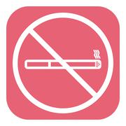 No smoke icon. Stop smoking symbol. Vector Stock Illustration
