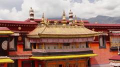 Jokhang Temple, Himalayas, Lhasa, Tibet Stock Footage