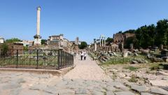 Roman Forum of Rome Stock Footage