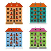Apartment houses - stock illustration