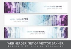 Creative web header or banner for your project - stock illustration