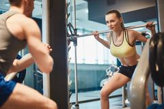 Female weightlifting - stock photo