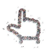 Group  people  shape hand cursor Stock Illustration