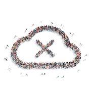 Group  people  shape  cloud Stock Illustration