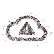 group  people  shape  cloud - stock illustration