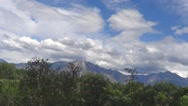 Time Lapse of Trees Mountain and Clouds on a Windy Day Stock Footage