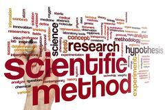 Scientific method word cloud Stock Photos