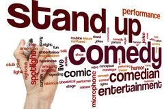 Stand up comedy word cloud - stock photo