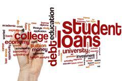 Student loans word cloud Stock Photos