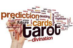 Tarot word cloud Stock Photos