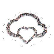 Stock Illustration of group  people  shape  cloud