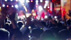 Crowd dancing on the concert (new series in 2015) Stock Footage