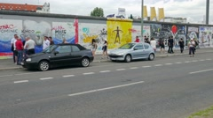 Berlin Wall - East side gallery, Germany Stock Footage