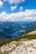 Stock Photo of Lake Hallstatt - view from Dachstein
