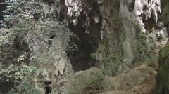 Entrance to karst cave in Hạ Long Bay, North Vietnam Stock Footage
