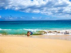 Bodyboarding Hawaii - stock photo