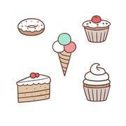 confection - stock illustration