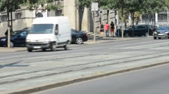 Summer day in the city Belgrade, traffic Stock Footage