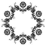 twenty seven series designed from the ottoman pattern - stock illustration