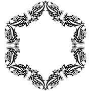 twenty nine series designed from the ottoman pattern - stock illustration