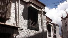 Old Tibetan house in Lhasa, Tibet Stock Footage