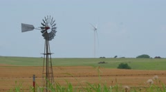 Windmills, Old and New Stock Footage