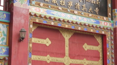 Chinese soldier in Lhasa, Tibet Stock Footage
