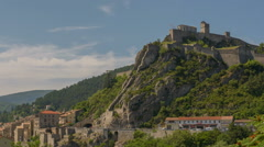Sisteron medieval fortress Provence  summer time lapse  Stock Footage