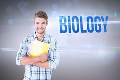 Stock Photo of Biology against grey vignette