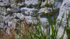 Ancient stonework. The walls of the city of Tauric Chersonesos. Crimea. Stock Footage