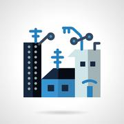 Apartments for rent flat vector icon - stock illustration