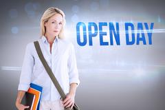 Stock Photo of Open day against grey vignette