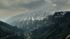 Finsteraarhorn peak alpine landscape in Berner Oberland storm gathering  Stock Footage