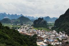 The xingping viewpoint - stock photo
