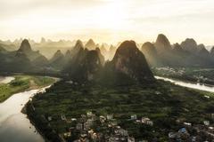 Laozhai mountain viewpoint - stock photo