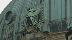 A beautiful angel statue on Berliner Dom Stock Footage